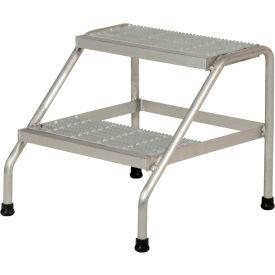 Vestil Aluminum Wide Step Stand - 2 Step Welded  - SSA-2W