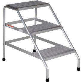 Vestil Aluminum Wide Step Stand - 3 Step - SSA-3W-KD