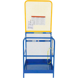 """Work Platform - Single Side Door Entry with Extended Back - 36""""W x 36""""L"""