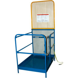 """Work Platform - Single Side Door Entry with Extended Back - 36""""W x 50-7/8""""L"""