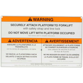 Work Platform - Additional Caution Sign with Mounting Hardware