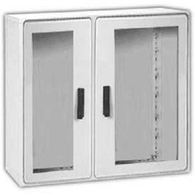 "Vynckier PSB4040/2A POLYSAFE 40"" X 40"" Non-Metallic Enclosure, 2 Bonded Window Doors"