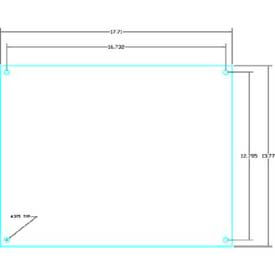 "Vynckier Psbp22s Polysafe Pub 16.14"" X 16.14"" Ps Steel Back Plate - Min Qty 3"