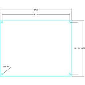 "Vynckier PSBP54S POLYSAFE Pub 45.64"" X 35.83"" PS Steel Back Plate"
