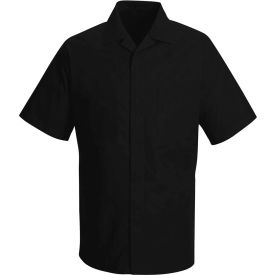 Red Kap® Convertible Collar Shirt Jacket Short Sleeve Black L - 1P60