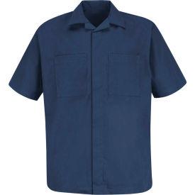 Red Kap® Convertible Collar Shirt Jacket Short Sleeve Navy L - 1P60