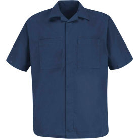 Red Kap® Convertible Collar Shirt Jacket Short Sleeve Navy M - 1P60