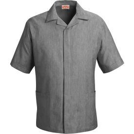 Red Kap® Pincord Shirt Jacket Short Sleeve Black Pincord XL - 1S00
