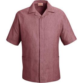 Red Kap® Pincord Shirt Jacket Short Sleeve Burgundy Pincord 3XL - 1S00