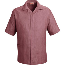 Red Kap® Pincord Shirt Jacket Short Sleeve Burgundy Pincord L - 1S00