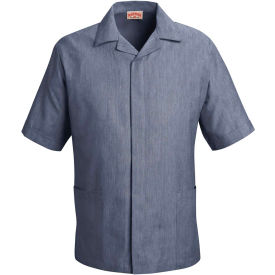 Red Kap® Pincord Shirt Jacket Short Sleeve Navy Pincord XL - 1S00