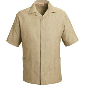 Red Kap® Pincord Shirt Jacket Short Sleeve Tan Pincord S - 1S00