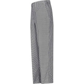 """Chef Designs Cook Pants, Unhemmed, Black & White Check, Polyester/Cotton Twill, 38"""" x 36"""""""