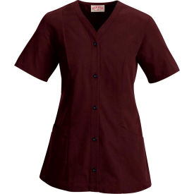 Red Kap® Women's Easy Wear Tunic Short Sleeve Burgundy L - 9P01