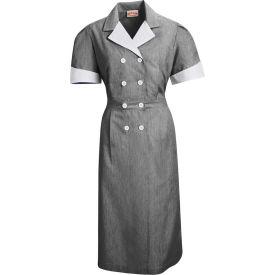 Red Kap® Double-Breasted Lapel Dress Uniform Short Sleeve Black Pincord 2XL - 9S01