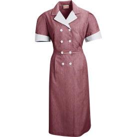 Red Kap® Double-Breasted Lapel Dress Uniform Short Sleeve Burgundy Pincord L - 9S01
