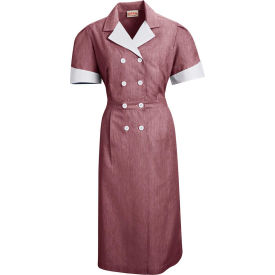 Red Kap® Double-Breasted Lapel Dress Uniform Short Sleeve Burgundy Pincord S - 9S01