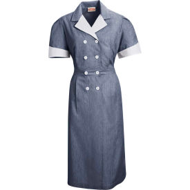Red Kap® Double-Breasted Lapel Dress Uniform Short Sleeve Navy Pincord L - 9S01