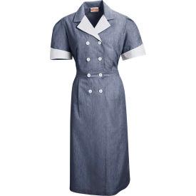 Red Kap® Double-Breasted Lapel Dress Uniform Short Sleeve Navy Pincord 2XL - 9S01