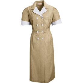 Red Kap® Double-Breasted Lapel Dress Uniform Short Sleeve Tan Pincord L - 9S01