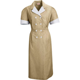 Red Kap® Double-Breasted Lapel Dress Uniform Short Sleeve Tan Pincord XL - 9S01