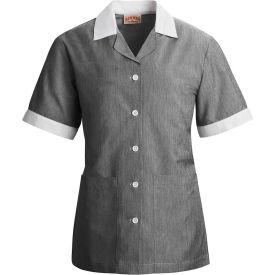 Red Kap® Single-Breasted Tunic Short Sleeve Black Pincord Regular-2XL - 9S05