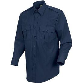Horace Small™ New Dimension Stretch Poplin Men's Long Sleeve Shirt Dark Navy 17.5 x 38 - HS11