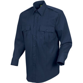 Horace Small™ New Dimension Stretch Poplin Men's Long Sleeve Shirt Dark Navy 18 x 34 - HS11