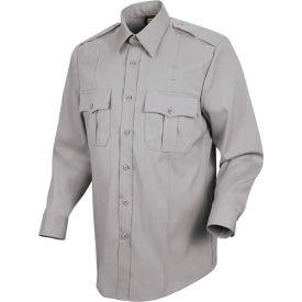 Horace Small™ New Dimension Stretch Poplin Men's Long Sleeve Shirt Gray 17.5 x 34 - HS11