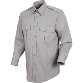 Horace Small™ New Dimension Stretch Poplin Men's Long Sleeve Shirt Gray 18.5 x 34 - HS11
