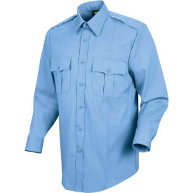 Horace Small™ New Dimension Stretch Poplin Men's Long Sleeve Shirt Light Blue 17 x 34 - HS11