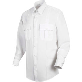 Horace Small™ New Dimension Stretch Poplin Men's Long Sleeve Shirt White 17.5 x 35 - HS11