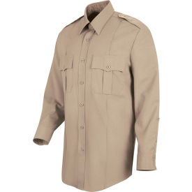 Horace Small™ Deputy Deluxe Men's Long Sleeve Shirt Silver Tan 18 x 34 - HS11