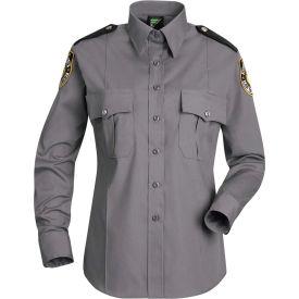 Horace Small™ New Dimension Stretch Poplin Women's Long Sleeve Shirt Gray S - HS11