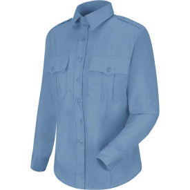 Horace Small™ New Dimension Stretch Poplin Women's Long Sleeve Shirt Light Blue 2XL - HS11