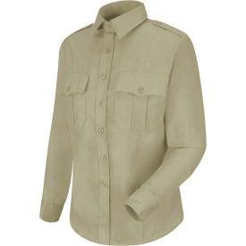 Horace Small™ New Dimension Stretch Poplin Women's Long Sleeve Shirt Silver Tan M - HS11
