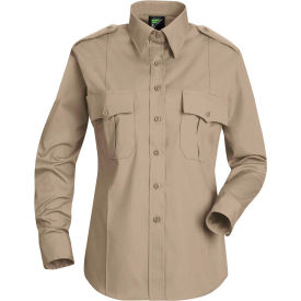 Horace Small™ Deputy Deluxe Women's Long Sleeve Shirt Silver Tan M - HS11
