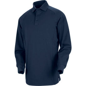 Horace Small™ New Dimension® Unisex Long Sleeve Special Ops Polo Shirt Dark Navy XL - HS51