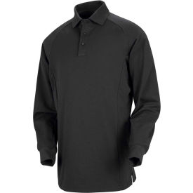 Horace Small™ New Dimension® Unisex Long Sleeve Special Ops Polo Shirt Black 4XL - HS51