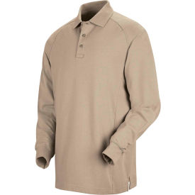 Horace Small™ New Dimension® Unisex Long Sleeve Special Ops Polo Shirt Silver Tan XL HS51