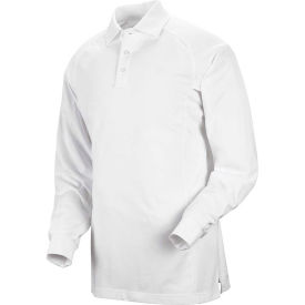 Horace Small™ New Dimension® Unisex Long Sleeve Special Ops Polo Shirt White L - HS51
