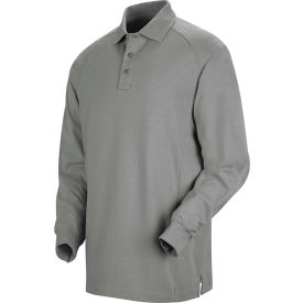 Horace Small™ New Dimension® Unisex Long Sleeve Special Ops Polo Shirt Gray 4XL - HS51