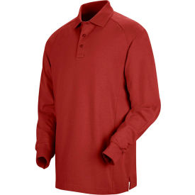 Horace Small™ New Dimension® Unisex Long Sleeve Special Ops Polo Shirt Red M - HS51