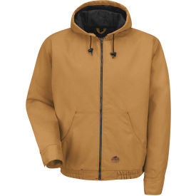 Red Kap® Blended Duck Zip Front Hooded Jacket Regular-S Brown Duck JD20