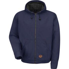 Red Kap® Blended Duck Zip Front Hooded Jacket Regular-L Navy Duck JD20