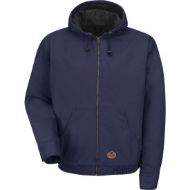 Red Kap® Blended Duck Zip Front Hooded Jacket Regular-M Navy Duck JD20