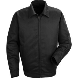 Red Kap® Slash Pocket Jacket Long-L Black JT22