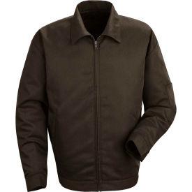 Red Kap® Slash Pocket Jacket Long-XL Brown JT22