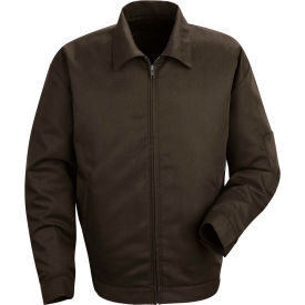 Red Kap® Slash Pocket Jacket Long-2XL Brown JT22