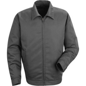 Red Kap® Slash Pocket Jacket Long-2XL Charcoal JT22